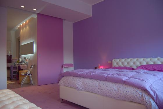letto bagno rosa |